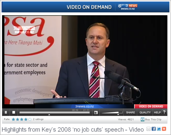 Highlights from Key's 2008 'no job cuts' speech
