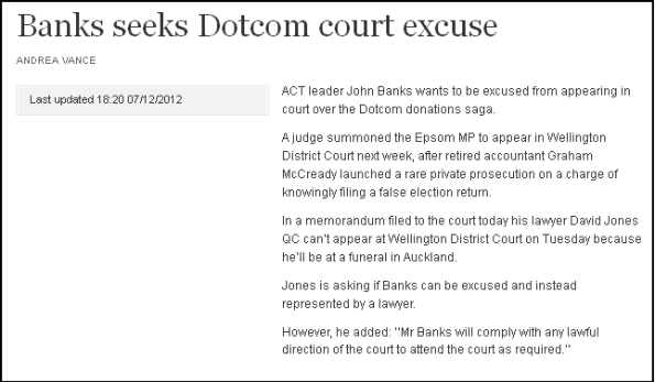 Banks seeks Dotcom court excuse