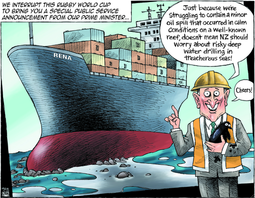 John key - deep sea drilling - rena - oil spill