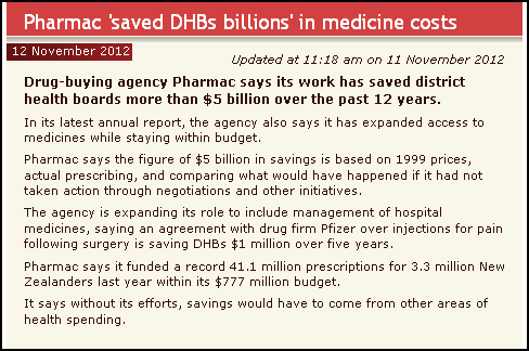 Pharmac 'saved DHBs billions' in medicine costs