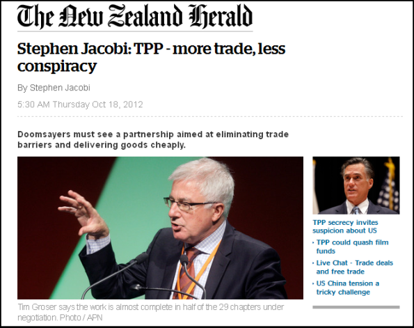 Stephen Jacobi - TPP - more trade, less conspiracy