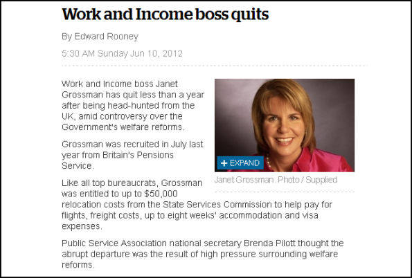 Work and Income boss quits