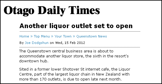 Another liquor outlet set to open