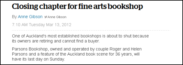 Closing chapter for fine arts bookshop