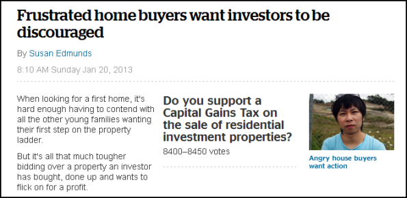 Frustrated home buyers want investors to be discouraged
