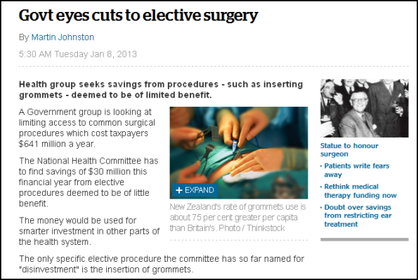 Govt eyes cuts to elective surgery