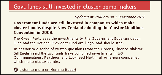 Govt funds still invested in cluster bomb makers