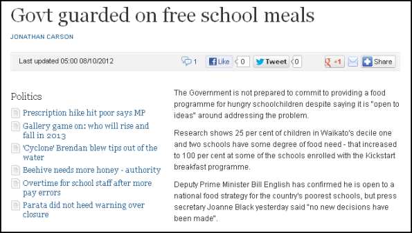Govt guarded on free school meals