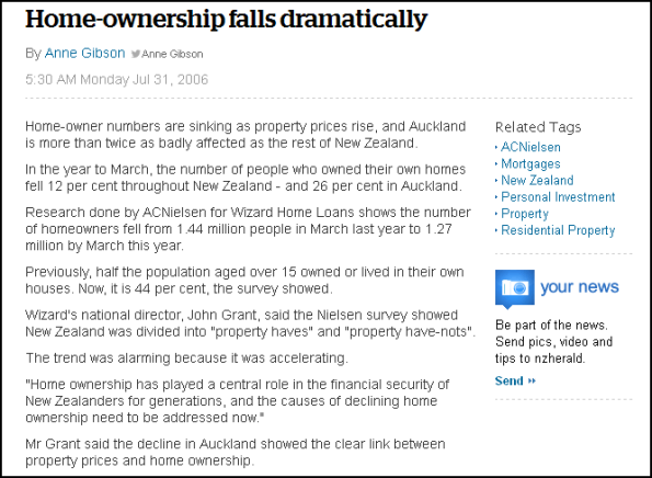 Home-ownership falls dramatically