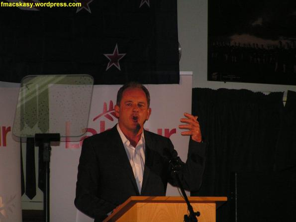 David Shearer - 27 January 2013 - new era new solutions - wainuiomata rugby club