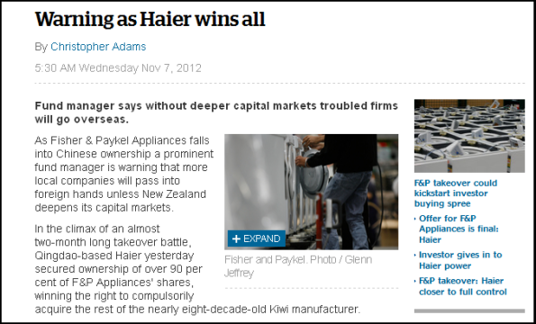 Warning as Haier wins all