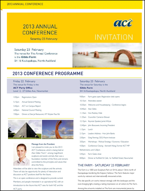 ACT Annual Conference 2013