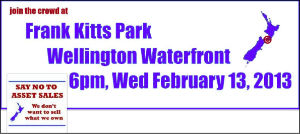 frank kitts park no to asset sales 13 feb