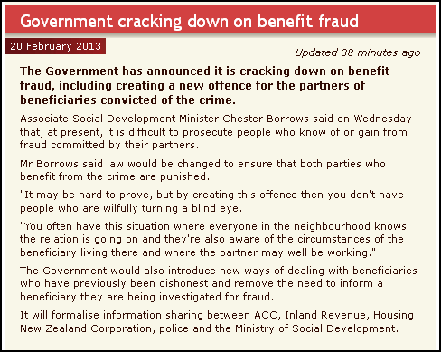 Government cracking down on benefit fraud