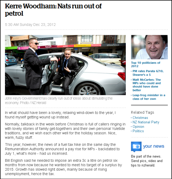 Kerre Woodham - Nats run out of petrol