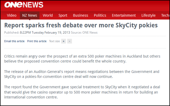 Report sparks fresh debate over more SkyCity pokies