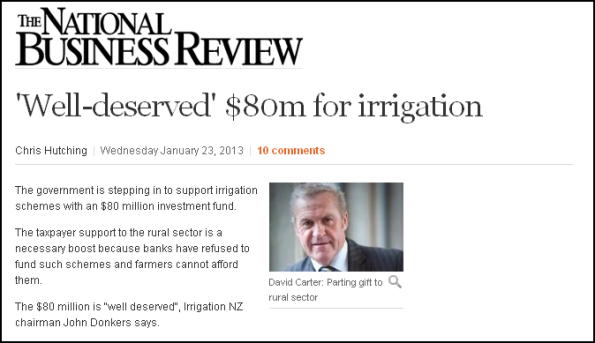 'Well-deserved' $80m for irrigation