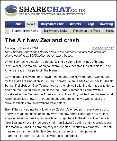 The Air New Zealand crash