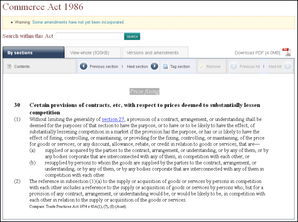 commerce act 19868 section 30