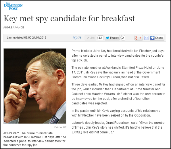 Key met spy candidate for breakfast