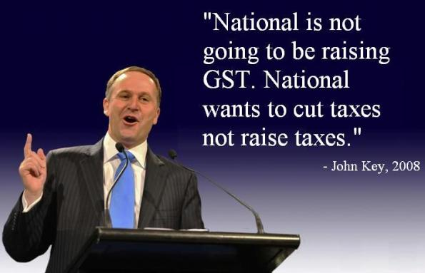 National is not going to raise taxes
