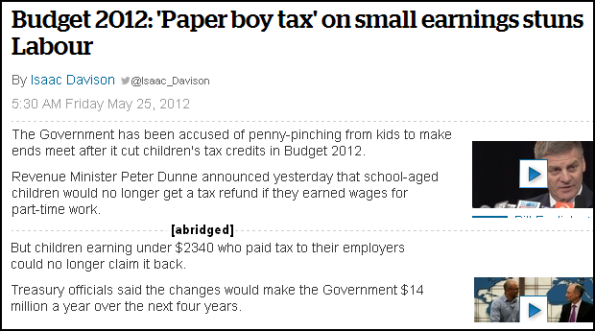 'Paper boy tax' on small earnings stuns Labour