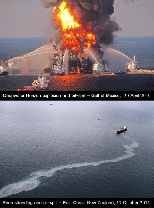 Deepwater Horizon and Rena Stranding