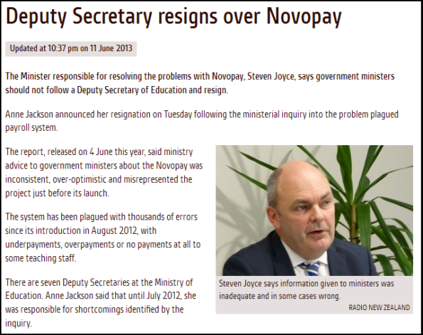 Deputy Secretary resigns over Novopay