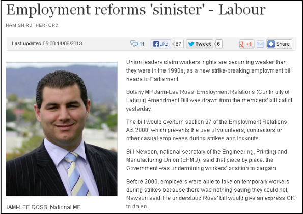Employment reforms 'sinister' - Labour