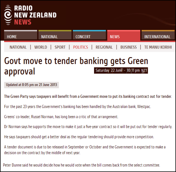 Govt move to tender banking gets Green approval