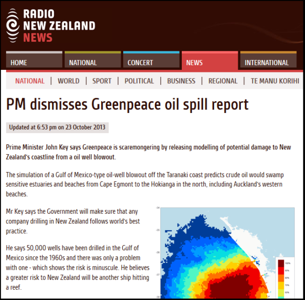 PM dismisses Greenpeace oil spill report