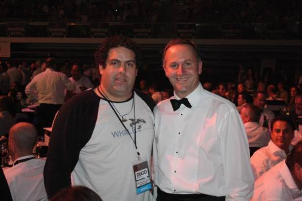 L-R: Rightwing blogger Cameron Slater & current prime minister, John Key