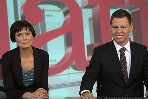 "Hosts for TV3's ""The Nation"", Lisa Owen and Patrick Gower"