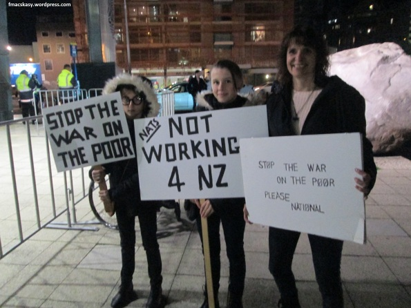 anti-National protest - Poneke Action Against Poverty - 28 June 2014 - Te Papa - Wellington (22)