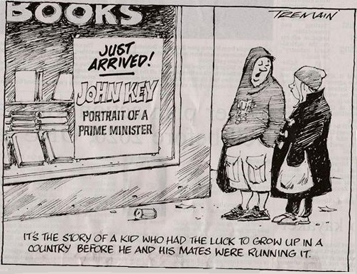 john key cartoon garrick tremain