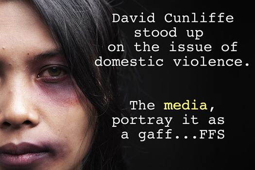 david cunliffe stood up on the issue of domestic violence