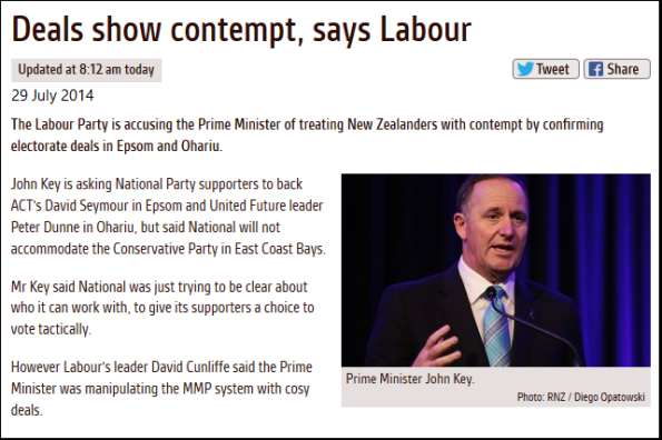 Deals show contempt, says Labour