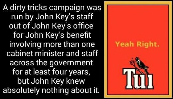 Dirty politics - tui - yeah right