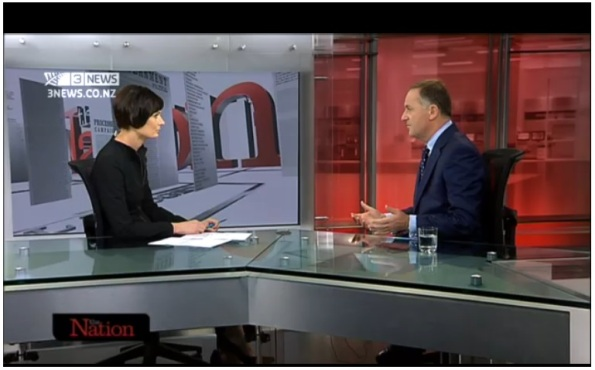 Lisa owen - john key - TV3 - The Nation - election 2014