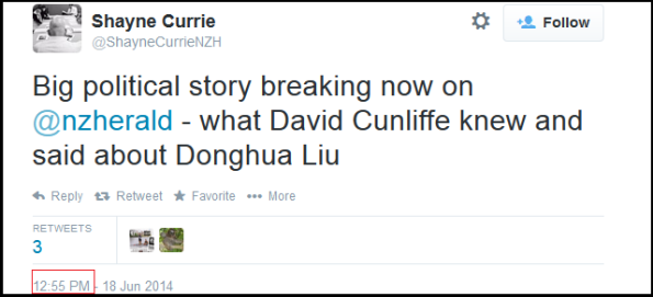 Shayne Curry - 12.55 - Twitter - NZ Herald - Donghua Liu - David Cunliffe - Immigration NZ