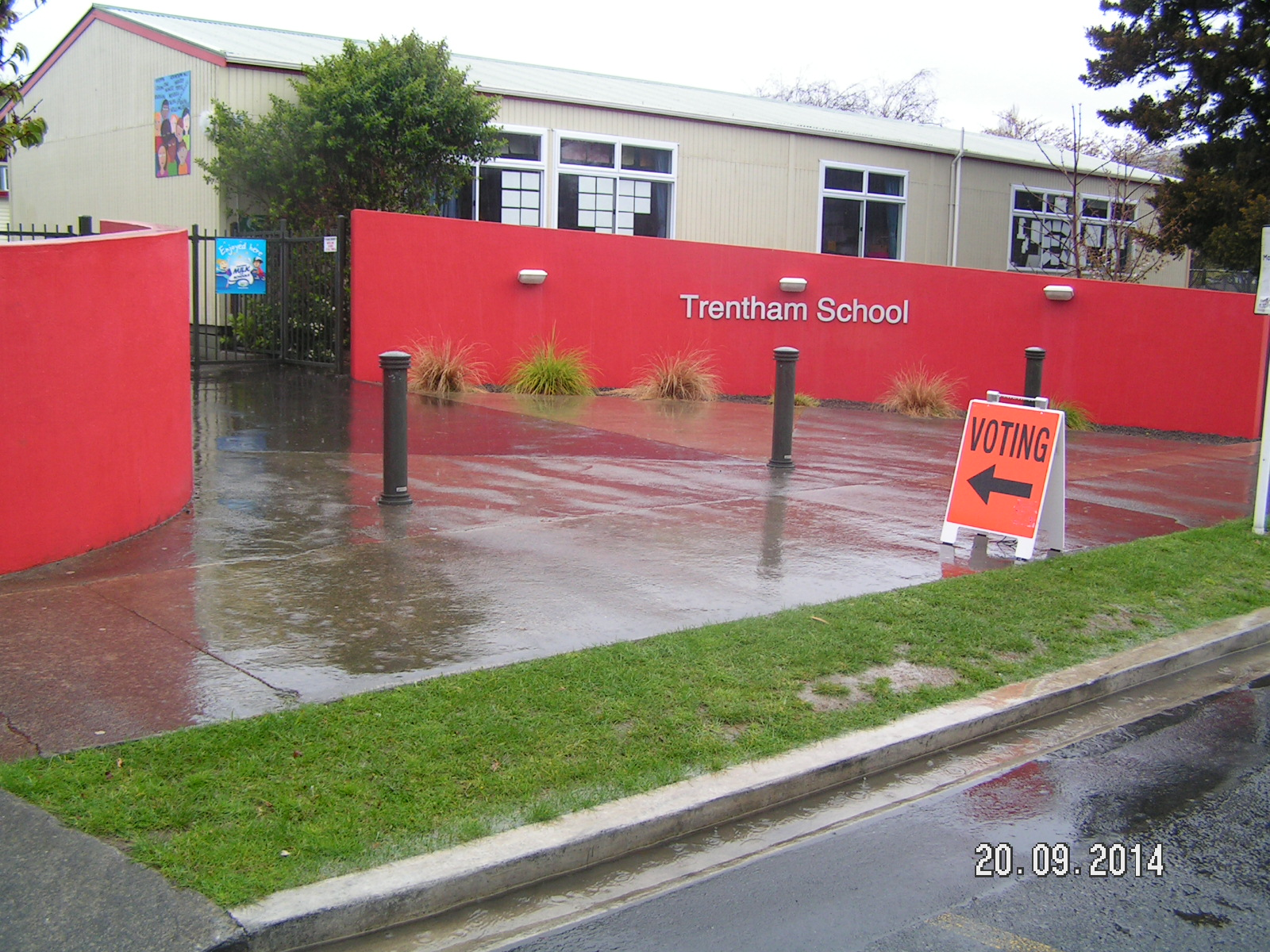 Trentham School - 20 September - election Day - polling station