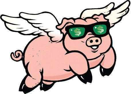 flying money pig