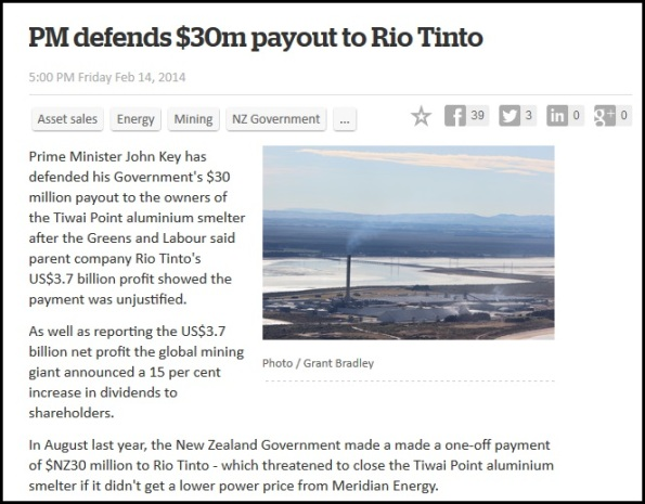 PM defends $30m payout to Rio Tinto