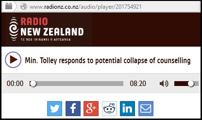 radio nz - Min. Tolley responds to potential collapse of counselling - relationship aotearoa - underfunding