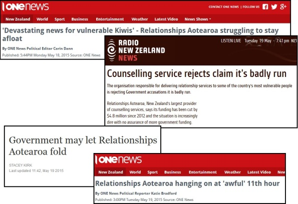 Relationships Aortearoa - funding cuts - Anne Tolley - budget 2015