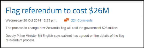 Flag referendum to cost $26M