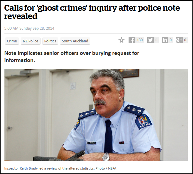 Calls for 'ghost crimes' inquiry after police note revealed - commissioner bush