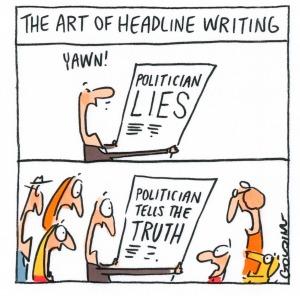 Lies - The art of political lying