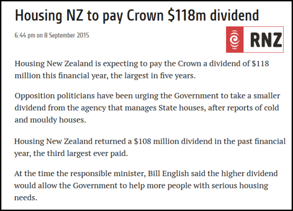 Housing NZ to pay Crown $118m dividend